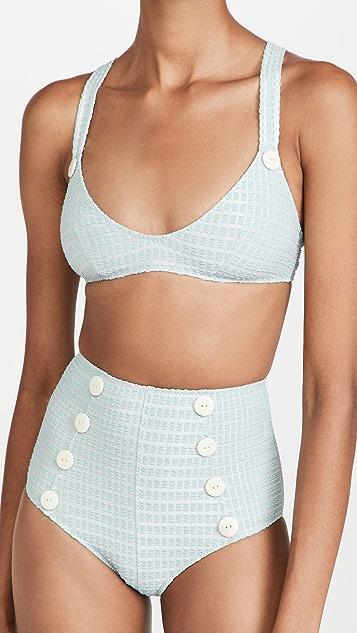 Lisa Marie Fernandez Magdalena Button High Waist Bikini Set