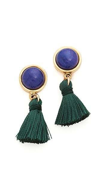 Lizzie Fortunato Tiny Tassel Earrings