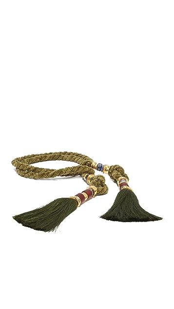 Lizzie Fortunato Moss Rope Tassel Belt