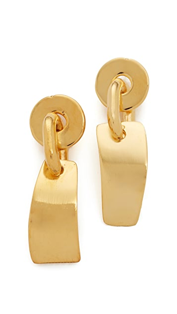 Lizzie Fortunato Gold Flag Earrings