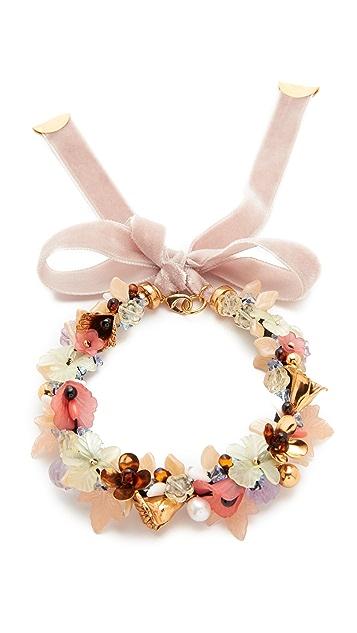 Lizzie Fortunato Velvet Garden Necklace