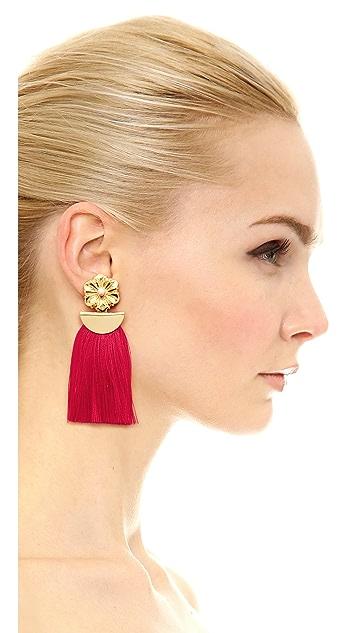 Lizzie Fortunato Poppy Fringe Earrings