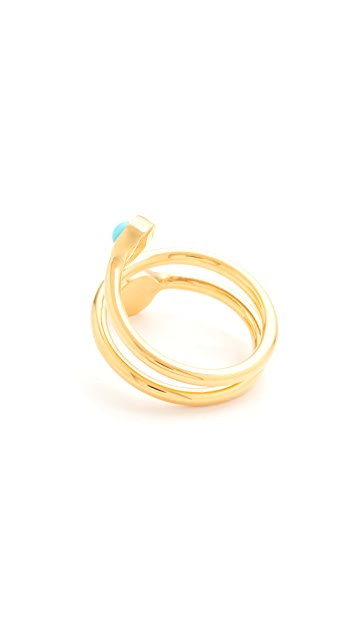 Lizzie Fortunato Spiral Pinky Ring
