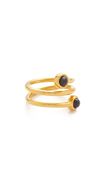 Lizzie Fortunato Spiral Pinky Ring