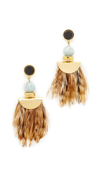 Lizzie Fortunato African Feather Earrings