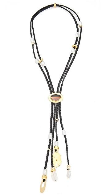 Lizzie Fortunato Hemingway Navy Tassel Necklace