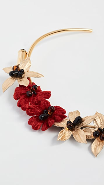 Lizzie Fortunato Poinsettia Collar Necklace