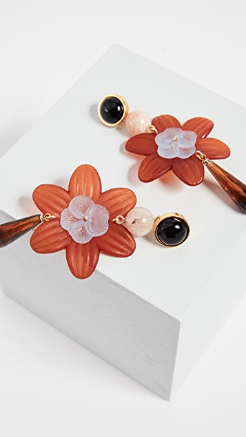 Lizzie Fortunato Sal Flower Earrings