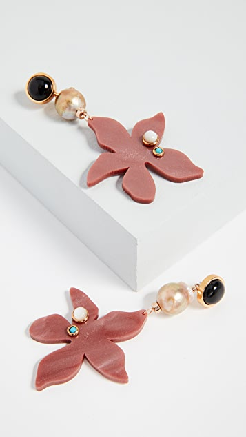 Lizzie Fortunato Portugal Poppy Earrings