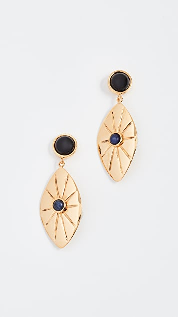 Lizzie Fortunato Capri Earrings - Brass