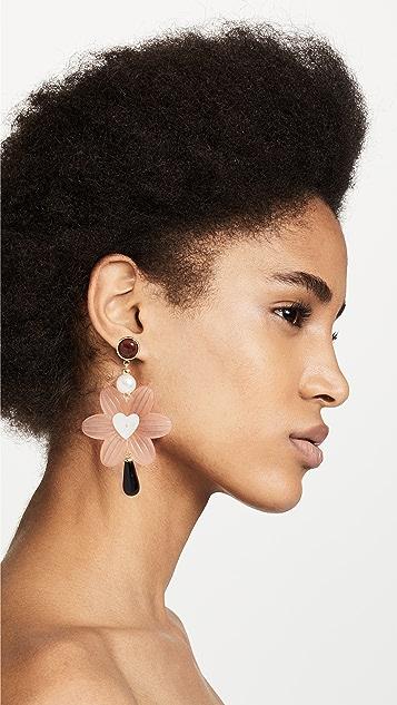 Lizzie Fortunato Sal Heart Earrings
