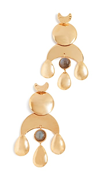Lizzie Fortunato Buddha Earrings