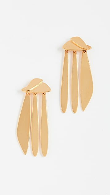 Lizzie Fortunato Gold Sail Earrings
