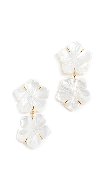 Lizzie Fortunato Paper White Reflection Earrings