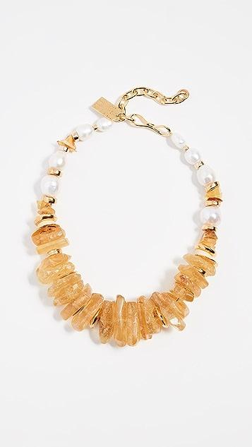 Lizzie Fortunato Wildflower Collar Necklace fRzdB