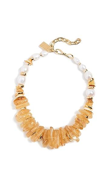 Lizzie Fortunato Bronze Collar Necklace