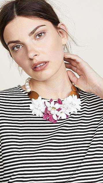 Lizzie Fortunato Wildflower Collar Necklace