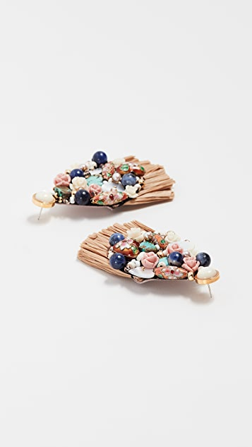 Lizzie Fortunato Daydream Raffia Earrings B0TiHNwIJx