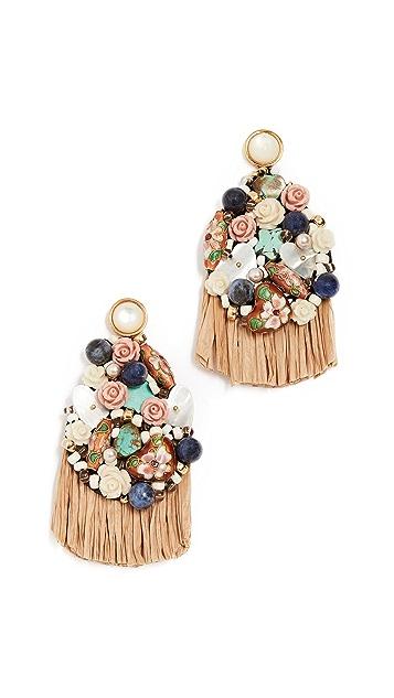 Lizzie Fortunato Daydream Raffia Earrings