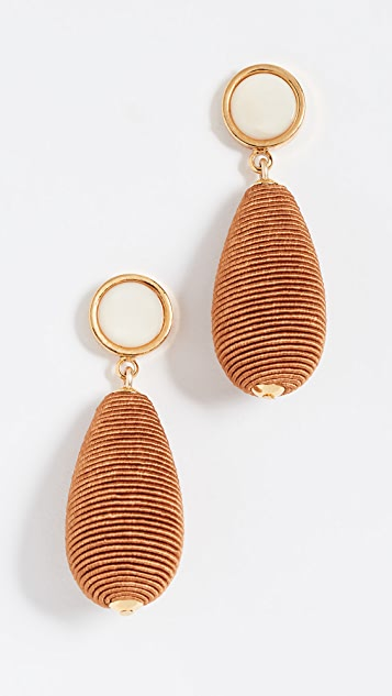 Lizzie Fortunato Terracotta Drop Earrings