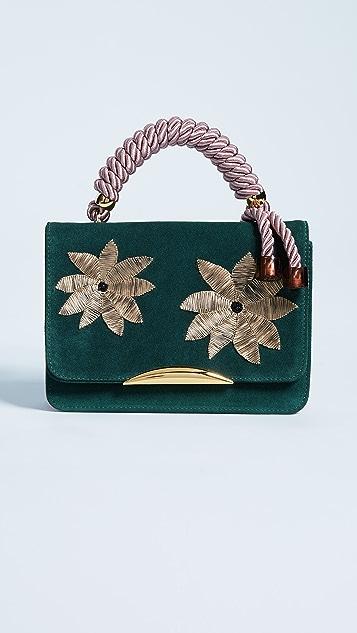 Lizzie Fortunato Beatrice Satchel - Pink/Green