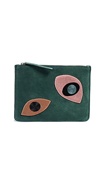 Lizzie Fortunato Abstract Eye Zip Pouch