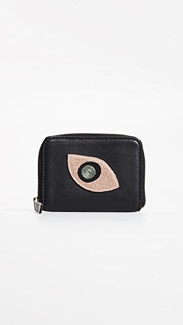 Lizzie Fortunato Abstract Eye Zip Coin Purse