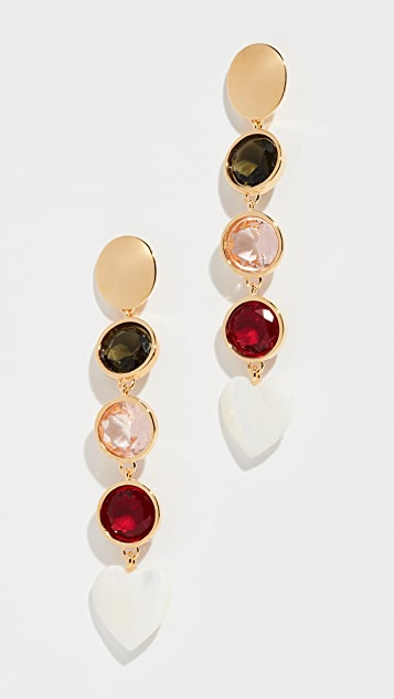 Lizzie Fortunato Nonna Heart Earrings