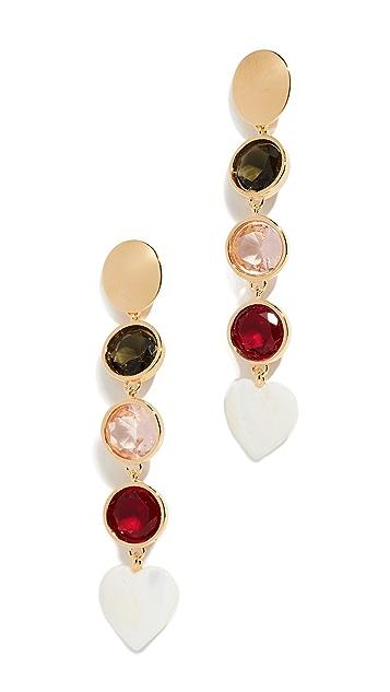 Lizzie Fortunato Nonna Heart Earrings