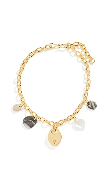 Lizzie Fortunato Heart of Gold Single Strand Necklace
