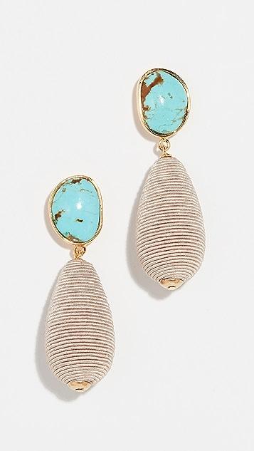 Lizzie Fortunato Turquoise Drop Earrings