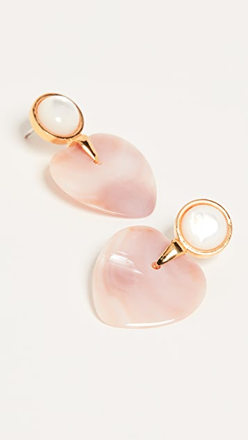 Lizzie Fortunato Heart and Soul Earrings