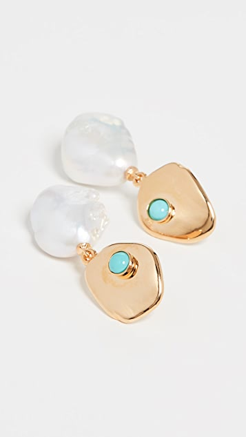 Lizzie Fortunato White Sand Earrings