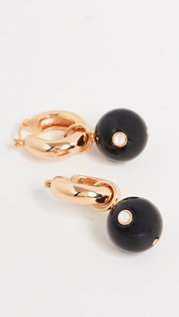 Lizzie Fortunato Agate Hoop Earrings