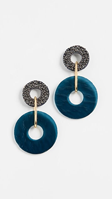 Lizzie Fortunato Indigo Earrings