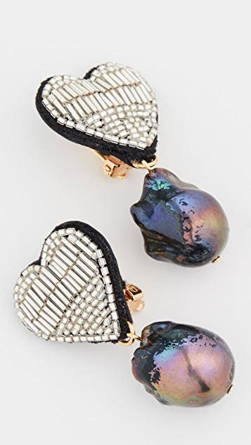 Lizzie Fortunato French Heart Earrings