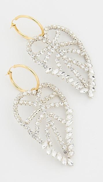 Lizzie Fortunato Crystal Leaf Earrings