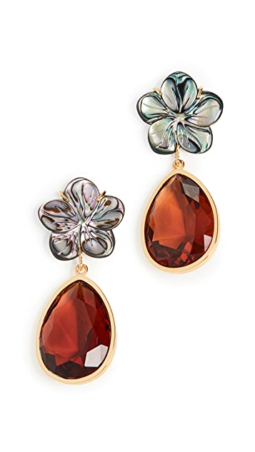 Lizzie Fortunato Lilypad Earrings
