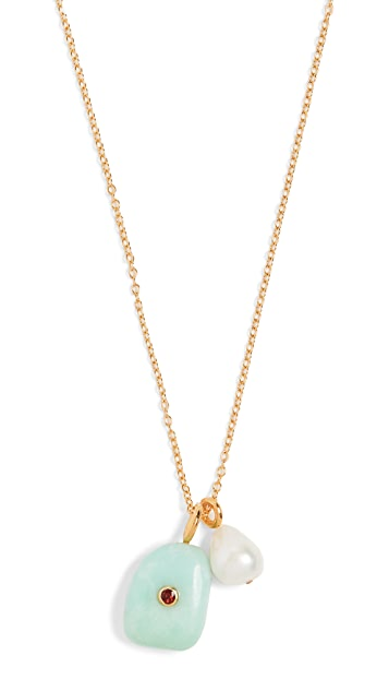 Lizzie Fortunato Green Oasis Necklace