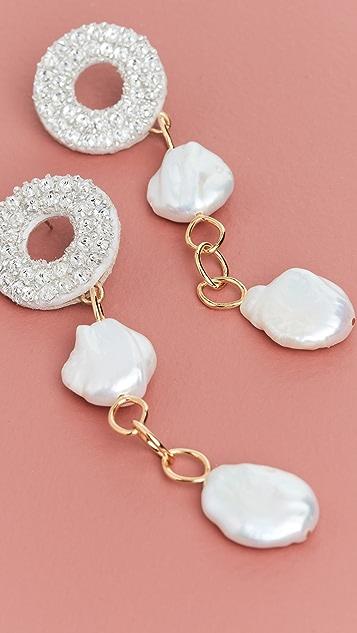 Lizzie Fortunato Chateau 珍珠耳环