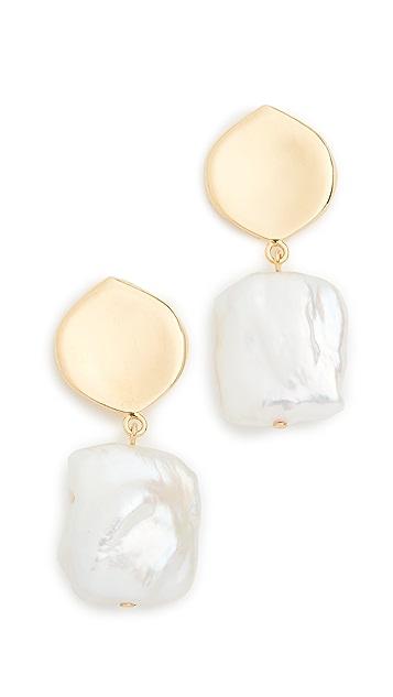 Lizzie Fortunato Белые серьги с жемчугом