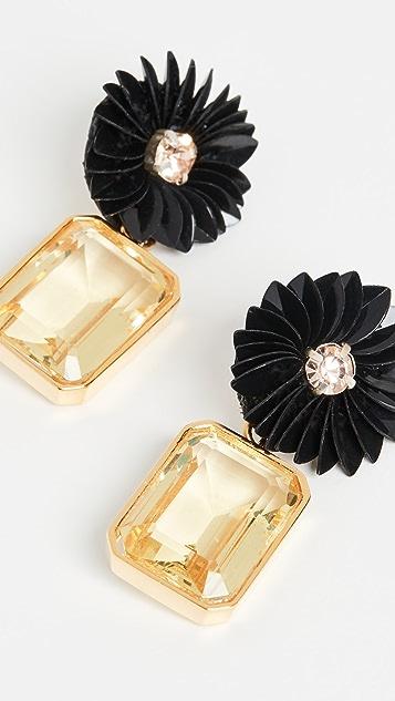 Lizzie Fortunato Citrine Flower Earrings