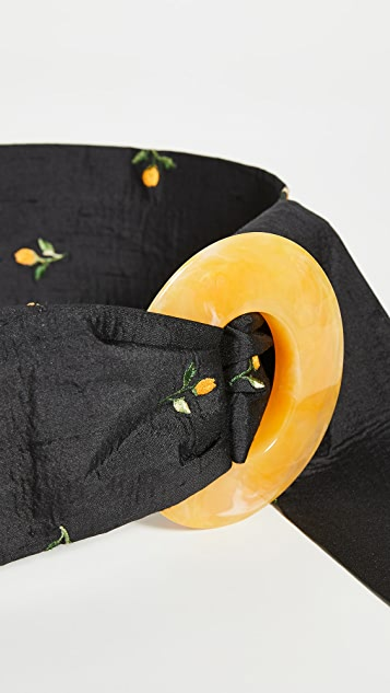 Lizzie Fortunato Brigitte Belt In Orange Blossom