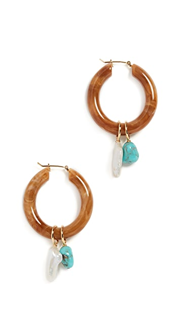 Lizzie Fortunato Spritz Hoops In Adriatic