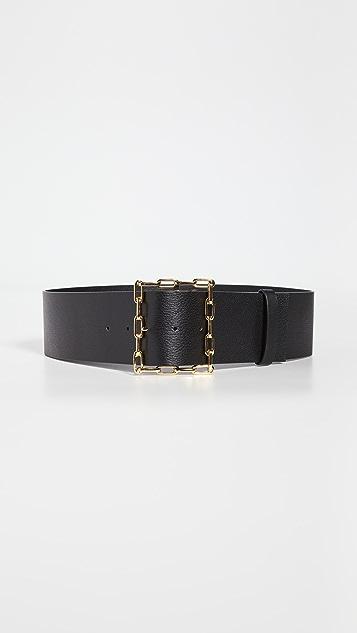 Lizzie Fortunato 黑色几何链条腰带