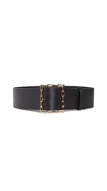 Lizzie Fortunato Geo Chain Belt In Black