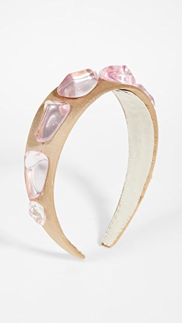 Lizzie Fortunato Crystal Headband In Rose