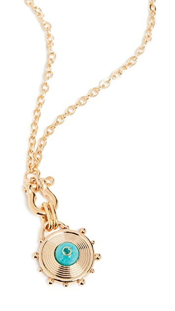Lizzie Fortunato Helm Pendant Necklace in True Blue