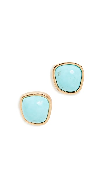 Lizzie Fortunato Bay Studs In Turquoise