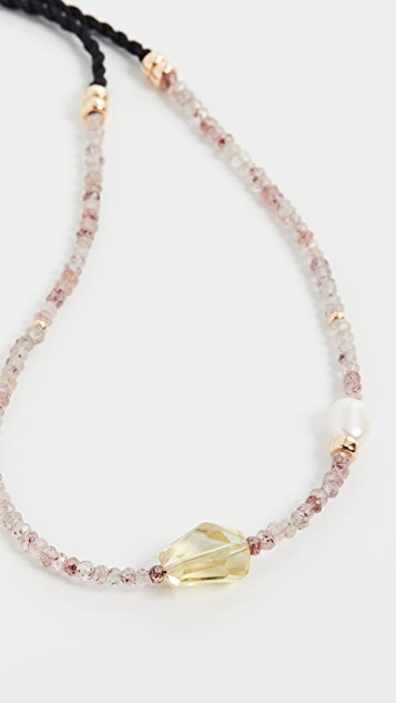 Lizzie Fortunato Hard Candy Necklace in Berry